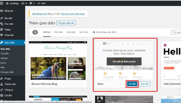 Cách Cài Theme WordPress