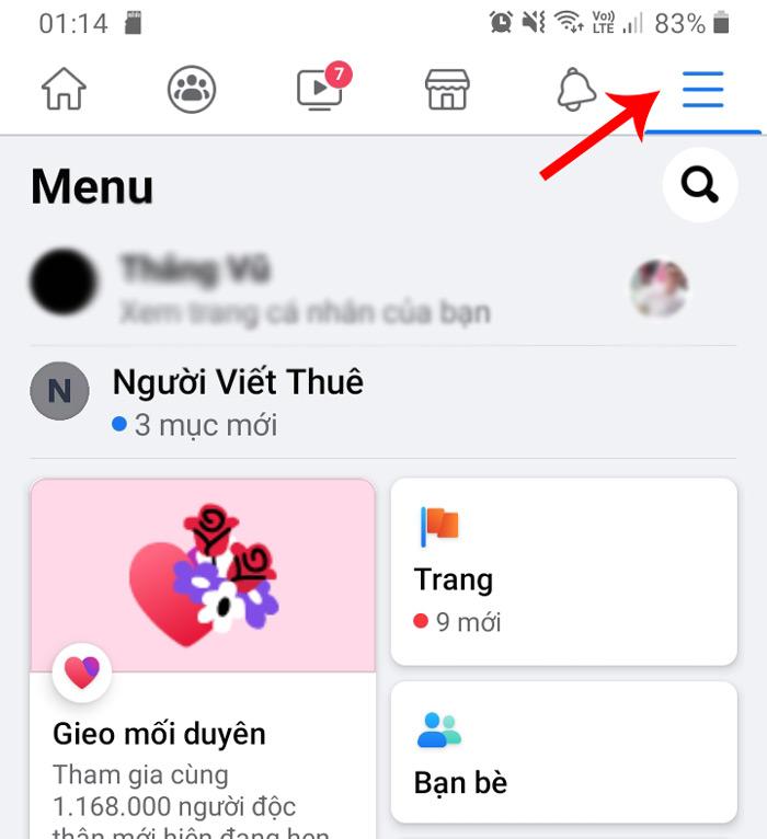 Cách đổi tên fanpage facebook trên điện thoại