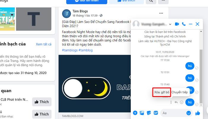 Xóa Tin Nhắn Trên FB Máy Tính