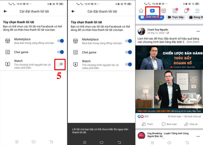 Hướng dẫn bật xem video Facebook Watch trên điện thoại