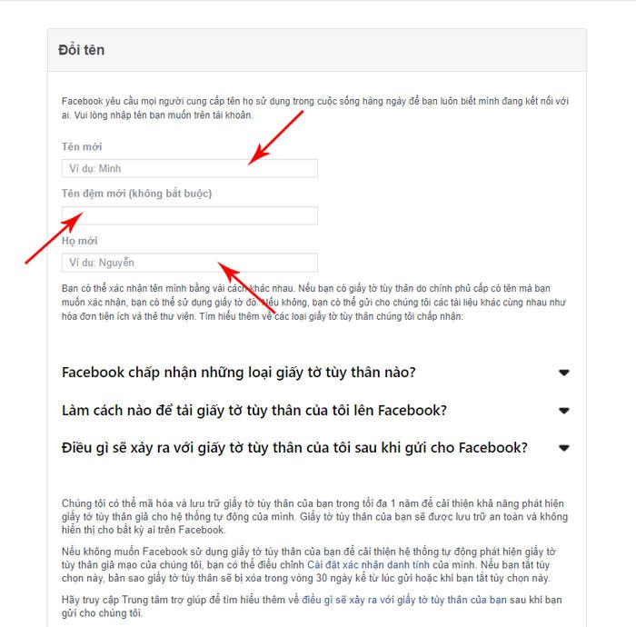 Hướng dẫn đổi tên nick cá nhân bằng link 333 fb