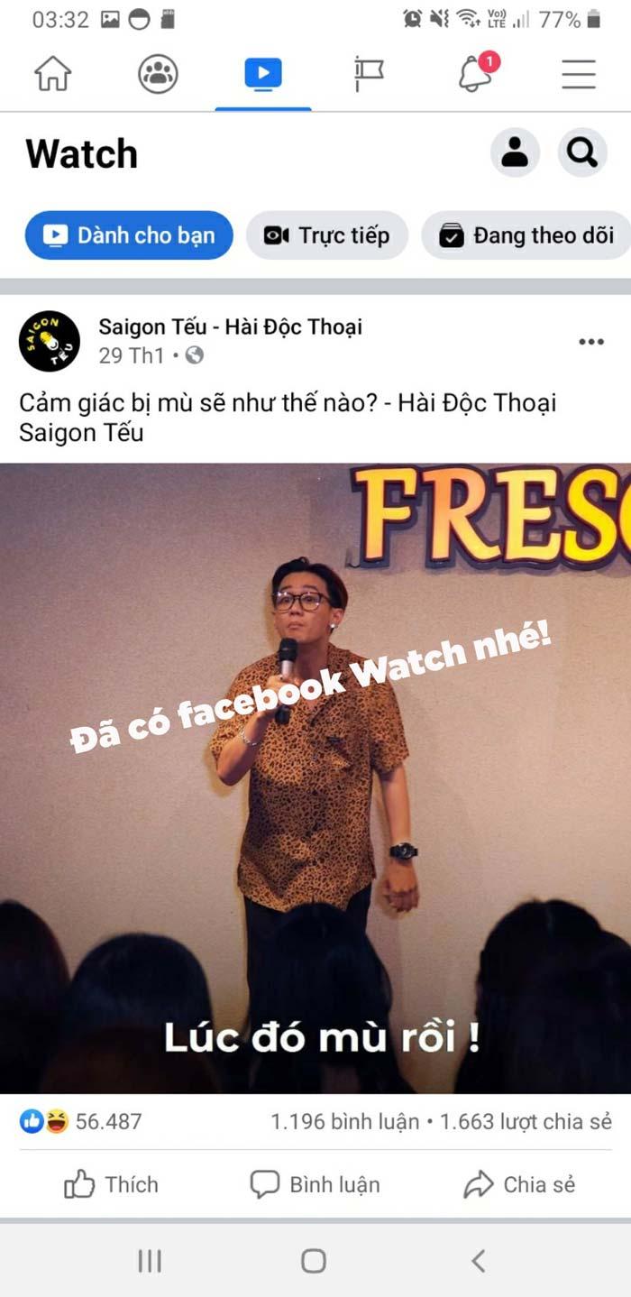 Vậy là đã có Facebook Watch rồi nhé!
