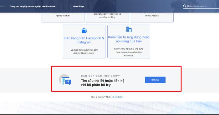 Tùy loại tài khoản thì mới có nút chat trực tiếp với đội ngũ FB