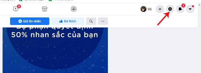 Hướng dẫn xem tin nhắn chờ facebook trên máy tính