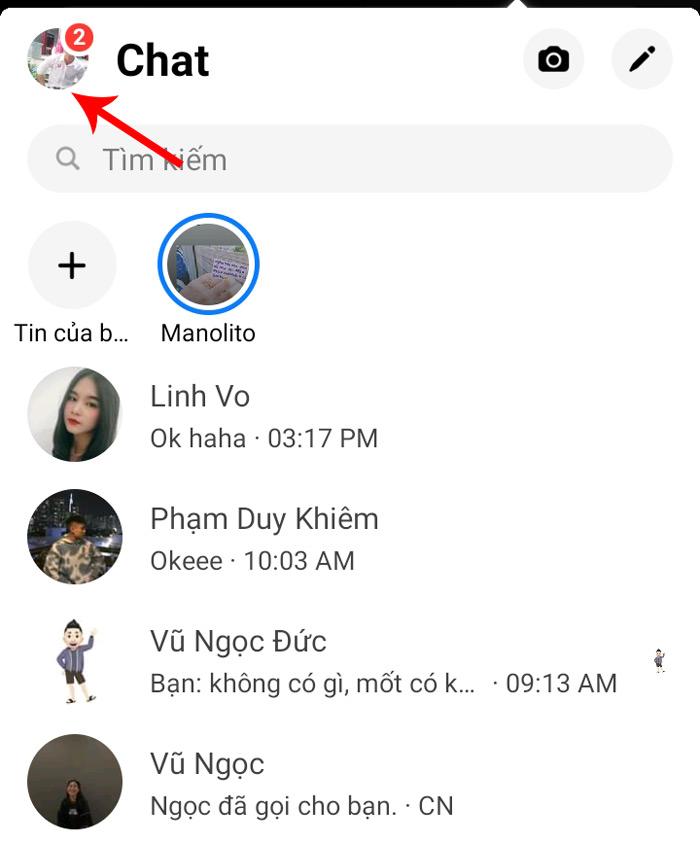 Hướng dẫn xem tin nhắn đang chờ trên messenger bằng điện thoại