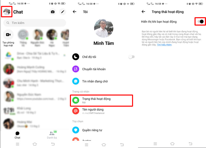 Hướng dẫn tắt hiển thị thời gian online trên điện thoại