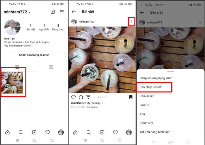 Cách xem ID ảnh, video trên Instagram