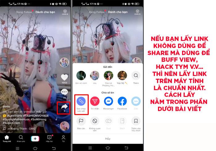 Cách Lấy Link Video Tik Tok Để Chia Sẻ Trên Facebook, Zalo...