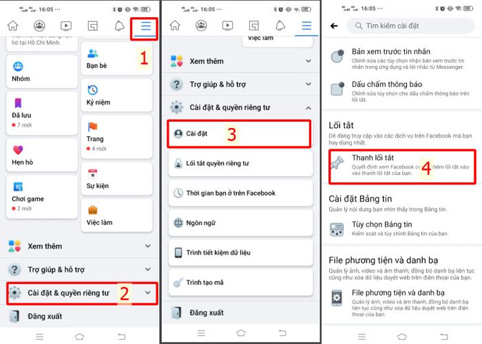 Cách bật nút Facebook Marketplace trên điện thoại