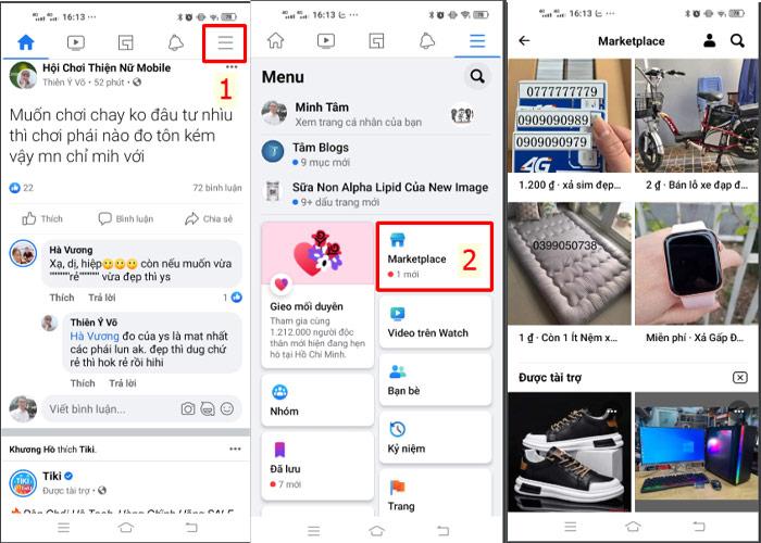 Cách bật xem hàng hóa sản phẩm trên marketplace của Facebook