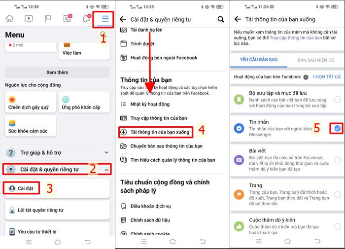 Cách khôi phục tin nhắn đã xóa trên messenger bằng điện thoại