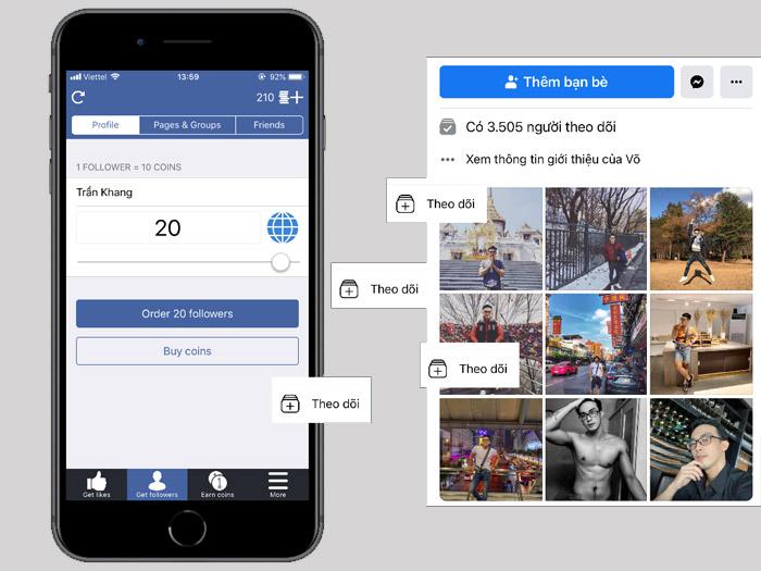 App tăng follow facebook an toàn